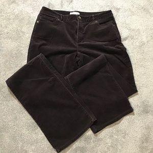 👖Coldwater Creek Corduroy Pants 10 Long